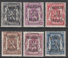 Preo  393/398 Serie No 11 * - Typografisch 1936-51 (Klein Staatswapen)