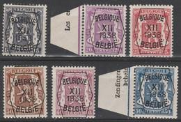 Preo  399/404 Serie No 12 * - Typografisch 1936-51 (Klein Staatswapen)
