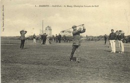 BIARRITZ  Golf Club A Massy ,Champion Français De Golf Peu Courant  RV  Aux Armes De Biarritz - Biarritz