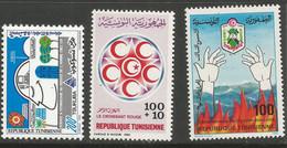 Tunisie 123 - 1985 N°1026 à 1028 - Tunisia