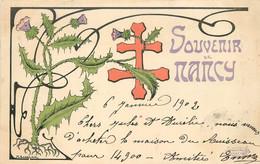 SOUVENIR DE NANCY - Carte 1900 Illustrée. - Nancy