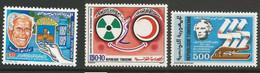 Tunisie 134 - 1986 N°1077 à 1079 - Tunisia
