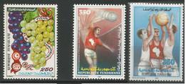 Tunisie 138 - 1987 N°1090 à 1092 - Tunisia