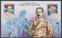 T10. Guinea Bissau MNH 2014 The 90th Anniversary Of The Birth Of Giacomo Puccini, 1858-1924 - Musique