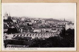 Sui144 ⭐ Mint Switzerland Vaud Waadt LAUSANNE Vue Générale Et Le Grand Pont 1920s Suisse E. HAISSLY Genève N° 386 - VD Vaud