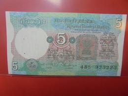 INDE 5 RUPEES Peu Circuler/Neuf (B.23) - Indien
