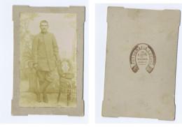 VENOSA ( POTENZA ) - FOTOGRAFO E. GATTI  - MILTARE / SOLDIER  - FOTO CARTONATA FINE '800 (3) - Old (before 1900)