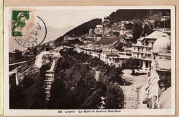 Sui200 ⭐ LEYSIN GARE Avenue SECRETAN Frankatur Siehe Rückseite 1923 à Jean CHAPUIS Rue Du Marché Au Blé La Flèche Sarthe - VD Vaud