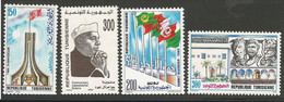 Tunisie 151 - 1989-90 N°1137 à 1140 - Tunisia