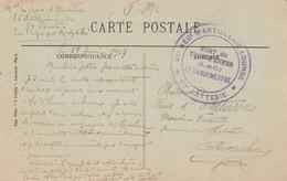 Cachet 81è Regt Artillerie Lourde Fort Du Trou D' Enfer Seine Et Oise 17/6/1917 Carte Postale à Arcachon Gironde - WW I