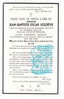 DP Garde Champêtre Veldwachter - Jean Baptiste Lescrève ° Biévène Bever 1860 † 1942 X J. Favyts Xx H. Denachtergael - Andachtsbilder