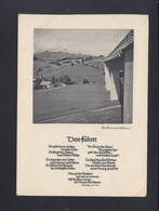 Dt. Reich Propaganda AK Dem Führer Adolf Hitler Reichsautobahn Als Feldpost 1942 Gelaufen - Unclassified