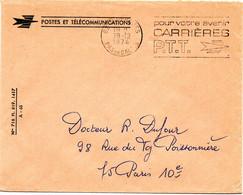 PAS De CALAIS - Dépt N° 62 = ISBERGUES 1974 =  FLAMME à DROITE =  SECAP ' CARRIERES PTT / Pour Votre Avenir ' FRANCHISE - Annullamenti Meccanici (pubblicitari)