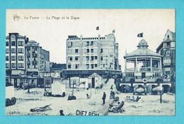 * De Panne - La Panne (Kust - Littoral) * (Star) La Plage Et La Digue, Strand En Dijk, Beach, Kiosque, Croix Rouge - De Panne