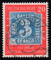 114 100 Jahre Briefmarken 20 Pf O Gestempelt - Unclassified