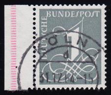 285X Ziffer 1 Pf Wasserzeichen 4 W, O Geprüft - Unclassified