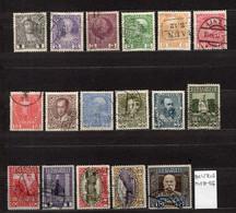 Austria Mi 139-156 Franz Joseph Jubileum 1908  FU - Used Stamps