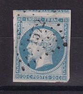D186 / NAPOLEON N° 14A OBL AVEC VOISIN - 1853-1860 Napoleon III
