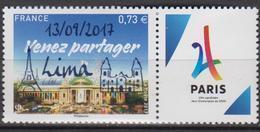 2017-N°5144A** PARIS 2024 SURCHARGE LIMA - Unused Stamps