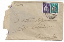 Portugal , 1912 , Ceres Assistência 1 C Green , Ceres 21/2 C Purple , Guimarães Postmark - Covers & Documents