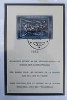 TB Bloc-feuillet 10 , 1945 Helvetia Suisse Sauvetage De Canot De Sauvetage 3+7 - Gebruikt