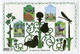 RC 12037 FRANCE BF N° 120 SALON DU TIMBRE 2008 JARDINS DE FRNCE BLOC FEUILLET NEUF ** - Mint/Hinged