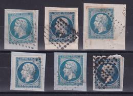 D186 / LOT NAPOLEON N° 14A OBL - 1853-1860 Napoleon III
