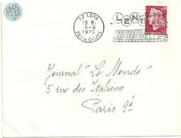 PAS De CALAIS - Dépt N° 62 = LENS 1970 =  FLAMME à DROITE =  SECAP Illustrée 'PISCINE OLYMPIQUE' - Mechanical Postmarks (Advertisement)