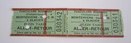 2 Tickets Encore Attachés Ensemble Aller-Retour Funiculaire Suspendu Téléphérique Montenvers - Gare C.M. à Glacier - Andere