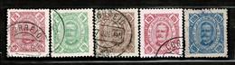 Moçambique, 1893/4, # 35/8, 40, Used - Mozambique