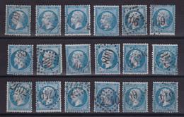 D186 / LOT NAPOLEON N° 22 OBL - 1862 Napoleon III