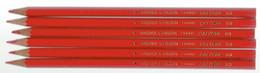 Lot De 6 Crayons De Couleur Rouge Baignol & Farjon France CALYPSO 83 - Other