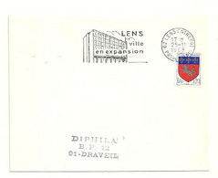 PAS De CALAIS - Dépt N° 62 = LENS ENTREPOT 1968 =  FLAMME SUPERBE =  SECAP Illustrée 'VILLE En EXPANSION' - Mechanical Postmarks (Advertisement)