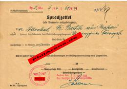 GG: Sprechzettel Für Anwalt Zum Besuch Im Gefängnis 1944 - Documenti Storici