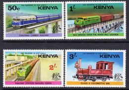 Kenya 1976 Railways Set Of 4, MNH, SG 66/9 (BA2) - Kenia (1963-...)