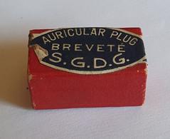 Ancienne Boite (vide) De Bouchon D'oreille Auricular Plug Jolsant En Carton - Medizinische Und Zahnmedizinische Geräte