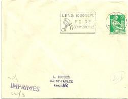 PAS De CALAIS - Dépt N° 62 = LENS 1959 =  FLAMME SUPERBE =  SECAP Illustrée MINEUR '10.20 SEPT FOIRE COMMERCIALE' - Annullamenti Meccanici (pubblicitari)