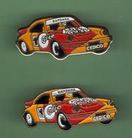 PORSCHE *** BARBARA CEDICO *** Lot De 2 Pin's Differents *** 5049 - Porsche