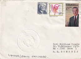 A8149- LETTER FROM BURTON ISLANDS, LYNDON JOHNSON US POSTAGE STAMPS SENT TO DEVA ROMANIA 1985 - Brieven En Documenten