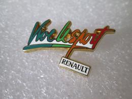 PIN'S   RENAULT   VIVE LE  SPORT     ARTHUS BERTRAND - Renault