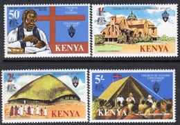 Kenya 1977 Centenary Of Ugandan Church, Kenya Inscription Set Of 4, MNH, SG 86/9 (BA2) - Kenya (1963-...)
