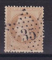 D187 / NAPOLEON N° 28B OBL ETOILE N° 35 COTE 14€ - 1863-1870 Napoleon III With Laurels