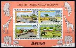 Kenya 1977 Nairobi - Addis Ababa Highway MS, MNH, SG 106 (BA2) - Kenia (1963-...)