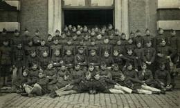 RPPC Photo Halleux Uitbreidingstraat 206 Berchem Antwerpen  Military Militar Militär Militaire - Regiments