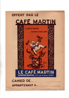 Protège-cahiers Offert Par Le Café Martin Eugène Martin Paris Avec Table De Multiplication Au Verso- Format : 24x18cm - Omslagen Van Boeken