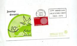 Lettre  Flamme Bethune Jumelage Schwerte - Mechanical Postmarks (Advertisement)