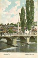 """CP De SARAJEVO """" Benbasi-brücke """"  + Publicité Purgène Au Verso - Bosnia And Herzegovina"""