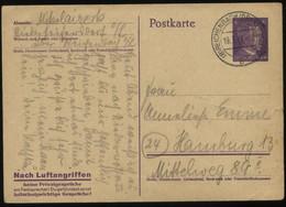 WW II Adolf Hitler GS Postkarte Mit Spruch : Gebraucht PLZ 8 Reichenbach Oberlausitz - Hamburg 19.3.1945, Bedarfserhal - Brieven En Documenten