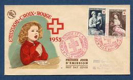 ⭐ France - Premier Jour - FDC - Croix Rouge - 1953 ⭐ - 1950-1959