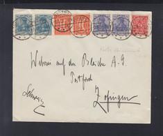 Dt. Reich Couvert 1922 Bad Ems Nach Zofingen - Storia Postale